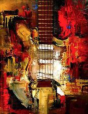Stratocaster Custom Shop - ART - Modern ORIGINAL Painting by SLazo – 30x40