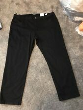 Per Una Roma Rise Black Straight Jeans Size 26 Short Bnwt Free Sameday Postage