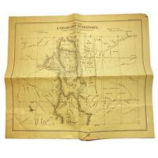 "RARE ANTIQUE Colorado Territory Map Reproduction 1861 Unframed 20.5"" x 17.25"""