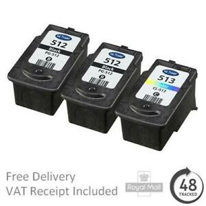 Premium Remanufactured Canon PG-512 & CL-513 High Capacity Ink Cartridges