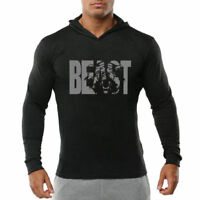 New Vintage Men Bodybuilding Gym Thin Shirts Long Sleeve Hoodies Casual T-shirt