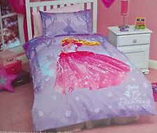 ~ Barbie -DOONA SINGLE BED QUILT DUVET COVER SET GIRLS 12 Dancing Princess