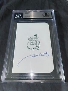 Jim Nantz Signed Masters Scorecard CBS Announcer Tradition Beckett Slab #3