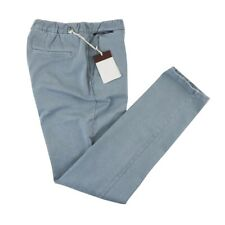 $198 NWT TELERIA ZED Pale Blue Washed Cotton Drawstring Joggers Pants 33 Fits 32