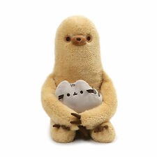 "GUND - Pusheen with Sloth Plush Stuffed Animal Set of 2, 13"", Tan and Gray"