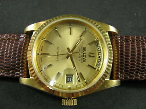 Classic BULOVA SUPER SEVILLE ' President ' Automatic Day Date Nice Collections