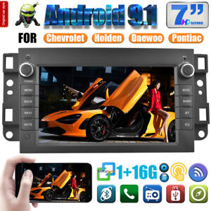 7'' Android 9.1 Car GPS Navigation Bluetooth 1GB+16GB Player Fit for Chevrolet