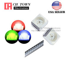 100pcs Smd Smt Plcc 2 12103528rgb Red Green Blue Light Common Anode Led Diodes