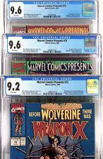 Marvel Comics Presents 72 73 74 - CGC  9.2 9.6 Wolverine - 3 Comic Set Not 9.8