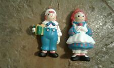 Raggedy Ann and Raggedy Andy Doll Christmas Tree Ornaments Set of 32