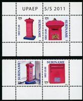 Surinam 2011 UPAEP Briefkästen Letterbox 2509-2510 Block 112 Postfrisch MNH