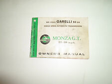 1985 Garello 50cc Mo-Peds Monza G. T. una Velocidad Owners Manual Agua Dañado