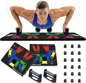 14 in 1 Push Up Rack Board Pushup Stand Fitness Workout Gym Exercise Training UK