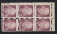 1971 Eisenhower MNH booklet pane 1395b with  85% plate number 32911 LL