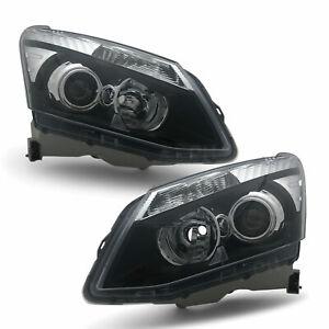 Headlights PAIR Black Projector Fits Isuzu DMAX Ute 2012 - 2016 D-MAX LH + RH