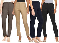 New Gloria Vanderbilt WoMen's Anita Sateen Straight-Leg Pants 4 Colors MSRP $40