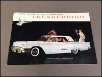1958 Ford Thunderbird 16-page BIG Original Vintage Car Sales Brochure Catalog