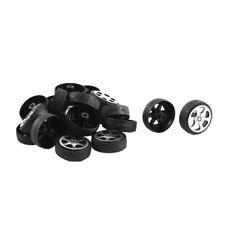 20pzs Rollo de plastico 2mm diametro eje Ruedas de juguete de coche 20x6mm AC