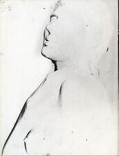 PHOTOS VINTAGE : NU solarisé et portrait att G. RODGER tirage argentique 1960-70