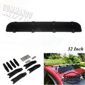 "Car Aerodynamic Roof Rack 32"" Wind Fairing Air Deflector Kit Car Cargo Box Racks"