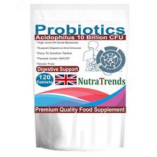 Double Strong Probiotics 10 billion Acidophilus 120 Tablets Vegeterian, UK made