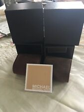 e1fb20c76ff88b Lot of 2 Michael Kors Authentic Brown Presentation Display Watch Box with  Pillow
