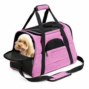 Dog Carrier Bag Travel Cat Puppy Soft Airline Shoulder Sling Backpack Portable