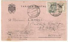 1939 Spain Miranda de Ebro Concentration camp postcard cover Algeria H Stimson