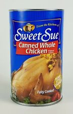 SWEET SUE CANNED WHOLE CHICKEN - 2 CANS = 6.25 Lbs Net Wt. - Ships Free in USA