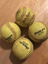 lot of 4 softballs 11 inch Softballs * Dudley * Trump *