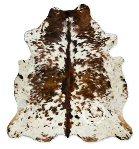 Cowhide Rug - Exotic Tricolor High Quality Hair on Hide Size: Small (S) K28