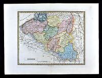 HUGE 1773 SC MAP Ware Shoals Waterloo Whitmire SURNAMES HUGE