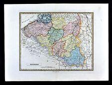 1839 Bell Map - Belgium Brussels Luxemburg Flanders Antwerp Ghent Liege Limburg