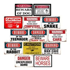Beware of The Teenager Retro Metal Tin Signs Plate Notice Warning Art Wall Decor