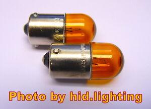 2 Genuine Philips 12V 10W RY10W Signal Light turn bulb BAU15s 12093 amber yellow