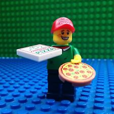 Lego Pizza Delivery Boy Man Minifigures Box Hat City Town 71007 Series 12