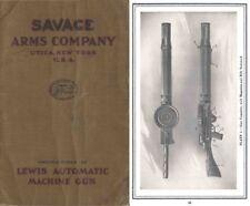 Lewis M1916 Automatic Machine Gun- Savage Arms Co