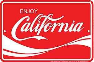 Enjoy California aluminium sign  305mm x 205mm (sf)
