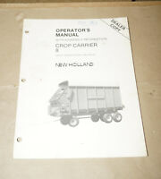 1986 New Holland Crop-Carrier 8 Operator's Manual P/N 43000817