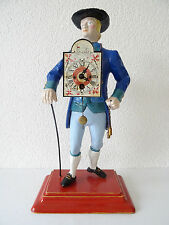 Dutch Vintage Figure Clock Seller Man of Time figural Schwarzwald Black Forest