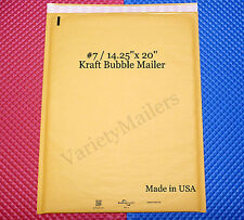 "3 Kraft Bubble Padded Envelope Mailers EXTRA LARGE  #7 14.25""x 20"" Self-Sealing"