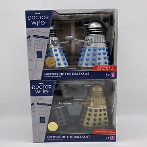 Limited Edition Doctor Who History of The Daleks 5 & 7 Bundle   Dr Who Dalek