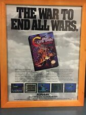 Vintage Konami Video Game Add Contra Nintendo