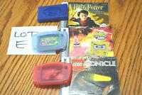 Nintendo Gameboy Advance GBA Authentic 3 game lot w/ manual Spongebob, Lego....