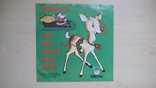 RUDOLPH THE RED NOSED REINDEER Peter Pan Record 45rpm 60s