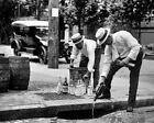 "Prohibition Emptying Liquor Down The Drain 8"" - 10"" B&W Photo Reprint"
