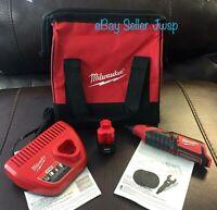NEW Milwaukee 2460-20 M12 12V Li-Ion Cordless Rotary Tool Battery Charger & Bag