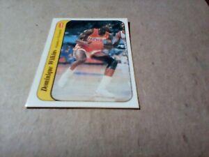 1986-87  FLEER BASKETBALL STICKER DOMINIQUE WILKINS (#11) (MINT)!!