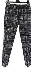 Prada Hose 38 (It) 34 (D) schwarz weiß 100% Seide trousers silk wie neu