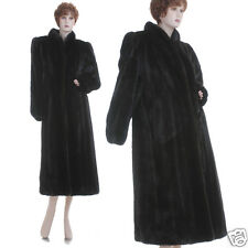 Mint! Career Woman's Must-Have! Real Black Female Mink Fur F/L Coat